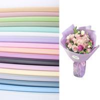20PCS / حزمة زهرة ورق التغليف التعبئة والتغليف ورقة المواد باقة زهور لوازم تغليف الهدايا باقة هدية مادية ملونة
