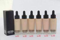 Hot Makeup Foundation STUDIO WATERWEIGHT Foundation Жидкость 30 мл 6 цветов Высокое качество доставки DHL + подарок
