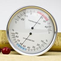 ميزان الحرارة داخلي الرطوبة 132mm / 5 '' درجة الحرارة التناظرية الرطوبة متر رطوبة مراقب -25 ~ 45C