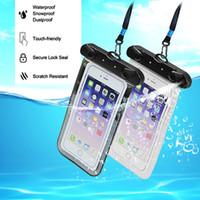 ماء الهاتف حالة تغطية 5.5 بوصة كيس ماء الهاتف المحمول الحقيبة تحت الماء الجاف حالة تغطية ل زورق كاياك ترميث السباحة الانجراف
