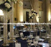 Hindistan kristal fiber mandalı, kristal düğün mandap ayağı dekorasyon