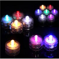 Packung mit 12 LED Taucher wasserdichte Teelichter LED-Dekoration Kerze Unterwasserlampe Hochzeitsfest Indoor Beleuchtung für Fischtank Teich
