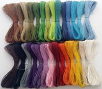450 yard / lot 1mm 28 kleuren waxed katoenen koord / touw / string, ketting en armband koord, kralen snoer, sieraden maken DIY-koord