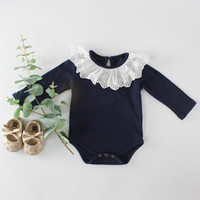 Best selling explosions autumn new girls baby lace collar ba...