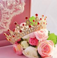 Новый золотой короны свадебный Алмаз сплава свадебный корона свадебный головной убор