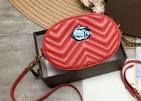 2018 new style fashion sheepskin pattern Waist Bags, with ch...