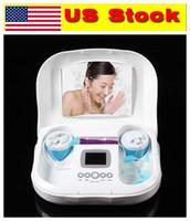 ABD stoğu! Hidro Aqua Temiz Elmas Dermabrazyon Mikrodermabrazyon Su Soyma Çözümü Yüz Spa Vakum Güzellik Salonu Makinesi