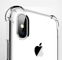 Funda transparente TPU a prueba de golpes para iPhone 12 11 Pro MAX X XR 6 7 8 PLUS Transparente Soft Gel Four Corners Protector Cubierta trasera para S21 S10 Plus