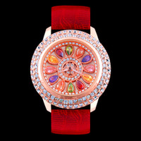 Woman Gypsophila Colored diamonds Watches ladies Fashion Rhi...