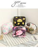 2018 Fashion High Quality Lady MakeUp Pouch Cosmetici Make Up Bag Uomini Frizione Hanging Toiletries Kit da viaggio Gioielli Organizzatore Borsa casual