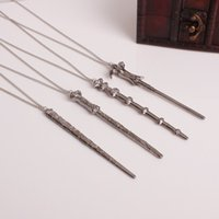Vintage Harry Movie Inspired Magic Wand Pendant Necklace Ant...