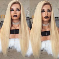 New Sexy Style 150% Density Long Straight Ombre Blonde Lace ...