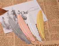 Metal Tüy İmi Belge Kitap Mark Etiket Altın Gümüş Pembe Altın İmi Ofis Okulu 7 Renkler DHL Malzemeleri