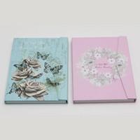 Biglietto da visita con smalto gel per unghie Libro con unghie fai da te Quaderno colorato da tavolo Manicure Nail Art Salon Libro Rosa e blu