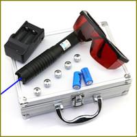 Puntatore laser blu BQ6 450nm con messa a fuoco regolabile con caricabatterie