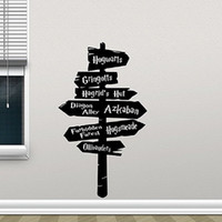 road pointer wall decal road map wall decal road sign wall s...