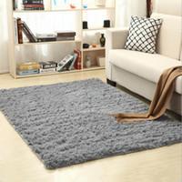 Grosshandel Plusch Teppich Fluffy Bodenmatte Anti Slip Fur Wohnzimmer