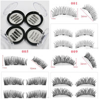 3D magnetics false lashes magnetic eyelashes with 3 magnets ...