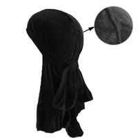 Musulmano Uomo Donna Bandana Turbante Cappello Parrucche velvet doo Berretti fasciatura berretto chemisier Biker Copricapo Fascia Pirata Accessori per capelli