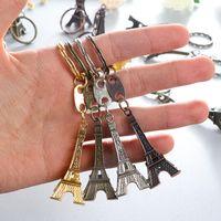 خمر 3d باريس برج ايفل المفاتيح الفرنسية تذكارية المفاتيح كيرينغ مفتاح سلسلة حلقة بالجملة حزب صالح هدية