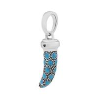 Convient Breloques Bracelets D'été Turquoise Corne Italienne Charme perles