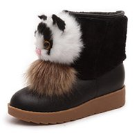 Boots women winter new cute cartoon cat thickening warm snow...