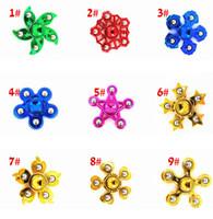 Beş Metal boncuk Fidget Spinner fidgets küp Yetişkinler Çocuk Stres tekerlek otizmleri Anti-stres Yaratıcı yenilik oyuncaklar