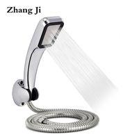 ABS 300 구멍 샤워 헤드 스테인레스 스틸 호스와 플라스틱 샤워 홀더와 설정 고압 물 절약 손 ZJ026