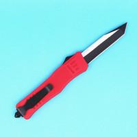 Top Quality Red 616 Grande Tamanho Auto Faca Tática 440C 58hrc Único Borda Tanto Fina Black Lâmina Ao Ar Livre Sobrevivência Tático Engrenagem