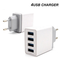 4 포트 USB 급속 충전 3.0 여행 충전기 차링 QC3.0 벽 충전기 EU 플러그