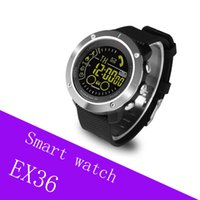 EX36 pantalla redonda Bluetooth onwrist watch impermeable 50m profundidad 5ATM IP67 para android y ios con luminous dial monitor de movimiento 20 unids