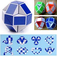 미니 매직 뱀 모양 장난감 게임 3D 큐브 퍼즐 트위스트 퍼즐 장난감 선물 임의의 지능 완구 Supertop 선물 DHL ZJ-T03