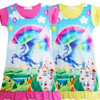 New Arrial Unicorn Medium Length Skirt for Baby Girls Kids G...