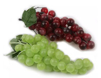 Букет Реалистичные Искусственный Виноград Пластиковые Поддельные Декоративные Фрукты Еда Home Decor 2 Цвета Drop Доставка