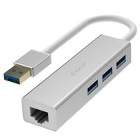USB-концентратор EDUP Con 3.0 Ethernet-концентратор rj45 Сетевое подключение 10/100/1000 Мбит / с для каждого ноутбука Macbook PC USB-адаптер Ethernet 3.0