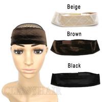 Velvet peruca de aperto ajustável Fixe antiderrapante Cabelo Cabeça Banda WiGrip Fit todas as cabeças Mantenha suas perucas