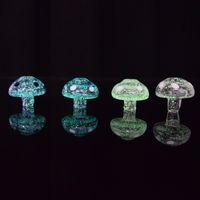 Brillan en la oscuridad de cristal Carb Cap luminoso Mushroom forma de burbuja Carb tapa del domo para térmica P Banger Nails 31 * 28mm Caps Shinning Carb