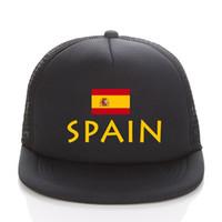 روسيا 2018 كأس العالم قبعة بيسبول الذهب اسبانيا لكرة القدم شبكة سائق شاحنة القبعات الصيف الاطفال / الرجال اسبانيا العلم أحد قبعة snapbacks