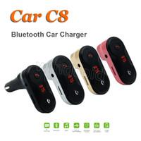 Kabelloser FM Transmitter Modulator Bluetooth AUX Freisprecheinrichtung Autoladegerät Car Kit Upgrade auf C8 Musik Mini MP3 Player SD USB LCD + Kleinkasten
