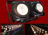 2-eyes 200 w Beyaz Sıcak Beyaz Su Geçirmez Sahne Blinder Işık 2x100 W COB LED Seyirci Stüdyo