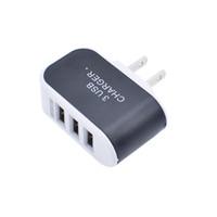 Heißer Verkauf US EU 5V 3.1A Triple-USB-Anschluss Wand Home Reise AC-Ladegerät für Samsung-Galaxie S3 I9300 S6 Note 3/4 Handy
