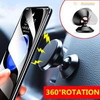 العالمي 360 درجة تناوب المغناطيسي هاتف السيارة حامل سبائك الألومنيوم تنفيس الهواء سيارة جبل الهاتف المحمول حامل للحصول على الروبوت الهواتف الذكية
