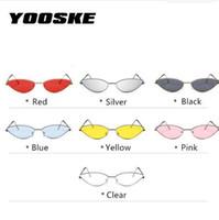 YOOSKE Nette Sexy Cat Eye Sonnenbrille Frauen Retro Kleinen Rahmen Schwarz Rot Cateye Sonnenbrille Weibliche Vintage Shades für Frauen