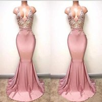 Prom Dresses 2018 Elegant Dusty Pink Sexy Spaghetti Straps D...