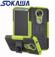 Para Motorola Moto E6 G6 Plus G6 Play E5 PLUS E5 PLAY G7 PLUS G7 Play One Power Funda Armadura Gel Hybrid Gel Protección de la piel Stand Shell Funda Dura