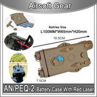 요소 Airsoft AN / PEQ-2 배터리 케이스 레드 레이저 VersionBattery Box PEQ2 스타일 dummy GBB / AEG 용 기능 없음 Wargame Paintball Softair