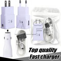 USB Duvar Hızlı Şarj Turbo Adaptörü Şarj Seti AB ABD Fiş Hızlı Kablo Samsung Galaxy Note8 S8 Artı Yok Logo