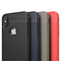 Litchi Leather Texture Case Shockproof Soft TPU Silicone Cov...