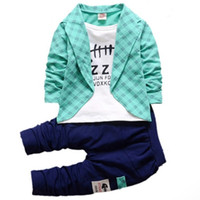 Boys Formal Clothing Kids Attire For Boy Clothes Plaid Suit ...