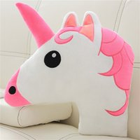 Huggable Unicorn Head Plush Pillow Stuffed Unicorn 3D Corn T...